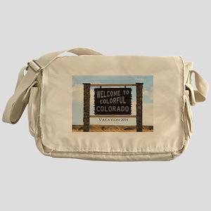 Customizable Colorful Colorado Sign Messenger Bag