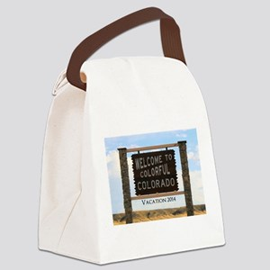 Customizable Colorful Colorado Si Canvas Lunch Bag