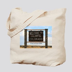Customizable Colorful Colorado Sign Souve Tote Bag