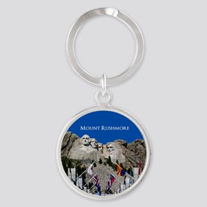 Mount Rushmore Customizable Souveni Round Keychain