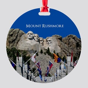 Mount Rushmore Customizable Souveni Round Ornament