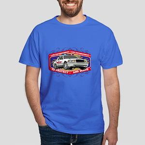 Law Enforcement Patrol Car Dark T-Shirt