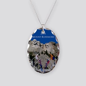 Mount Rushmore Customizable So Necklace Oval Charm