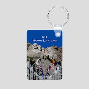 Mount Rushmore Customizabl Aluminum Photo Keychain