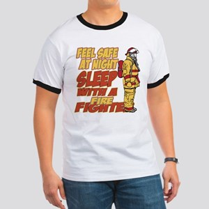 Feel Safe at Night Firefighter Ringer T