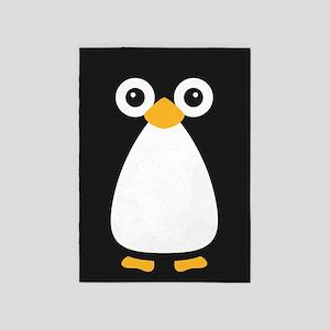 Cute Vector Penguin 5'x7'Area Rug