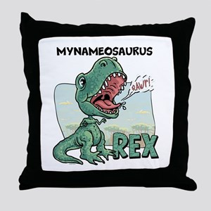 Personalizable T-Rex Throw Pillow