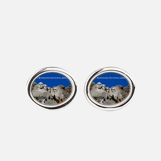 Mount Rushmore Customizable Souveni Oval Cufflinks