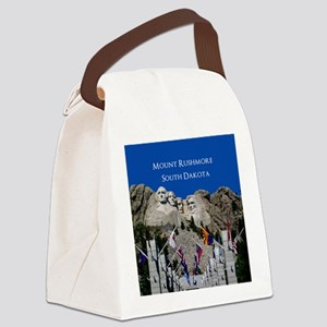 Mount Rushmore Customizable Souve Canvas Lunch Bag