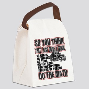 Trucker Do The Math Canvas Lunch Bag