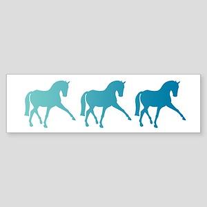 Dressage Horse Sidepass Blue Ombr Sticker (Bumper)
