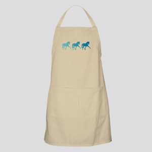 Dressage Horse Sidepass Blue Ombre Apron