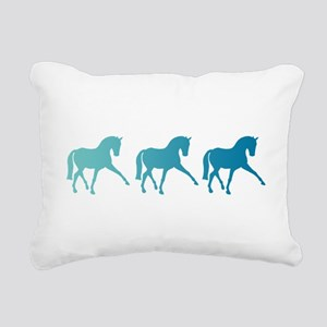 Dressage Horse Sidepass Rectangular Canvas Pillow