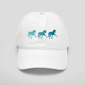Dressage Horse Sidepass Blue Ombre Cap
