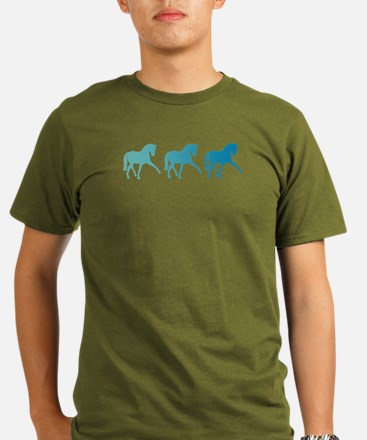 Dressage Horse Sidepa Organic Men's T-Shirt (dark)