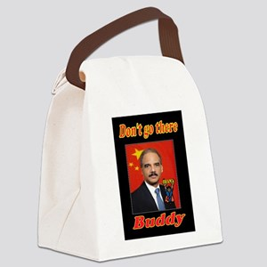 ANGRY ERIC HOLDER Canvas Lunch Bag