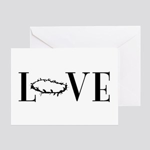 Crown of Thorns expressed in LOVE Greeting Cards