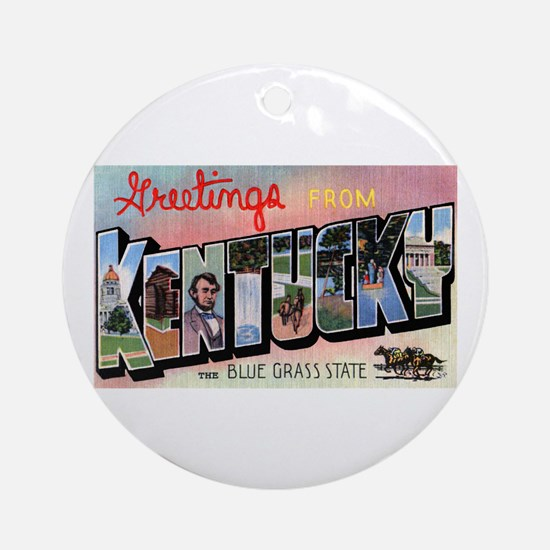 Kentucky Greetings Ornament (Round)
