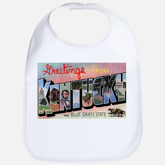 Kentucky Greetings Bib