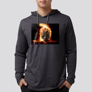Skull on Fire Long Sleeve T-Shirt