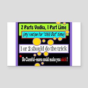 Two Parts Vodka Rectangle Car Magnet