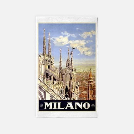 Milan Italy 3'x5' Area Rug