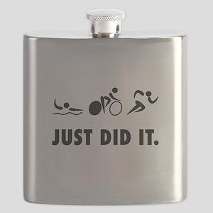 Just Did It Triathlon Flask
