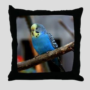 Budgie Flower Throw Pillow