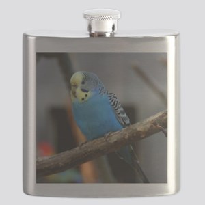 Budgie Flower Flask