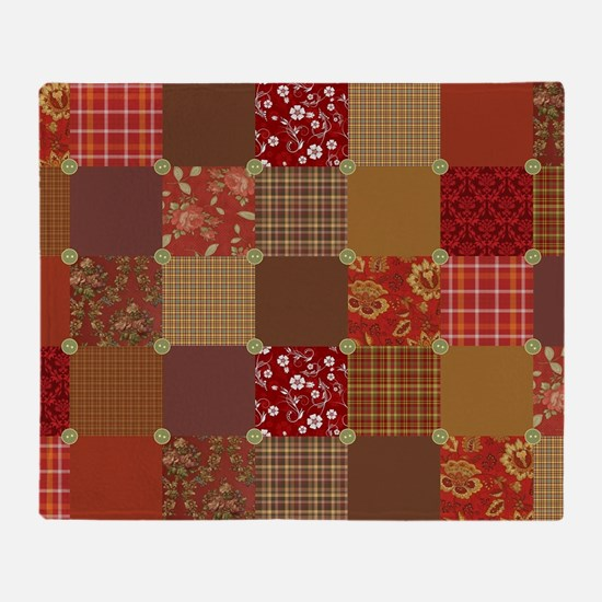 PRIM PATCHWORK Throw Blanket