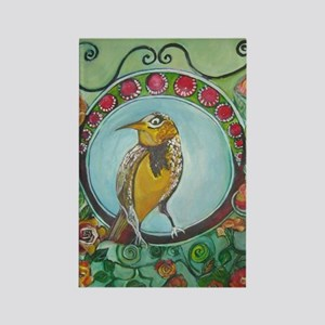 Wren by Ruth Olivar Millan Rectangle Magnet