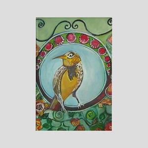 Wren by Ruth Olivar Millan Rectangle Magnet