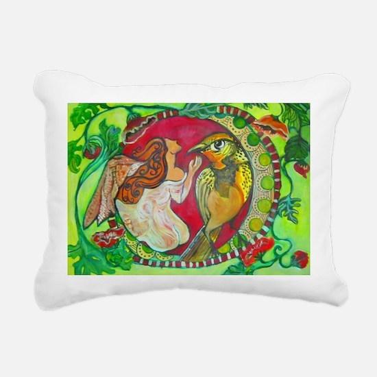 Wren by RuthOlivarMillan Rectangular Canvas Pillow