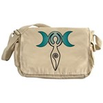 Triple Moon Goddess Messenger Bag