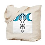Triple Moon Goddess Tote Bag