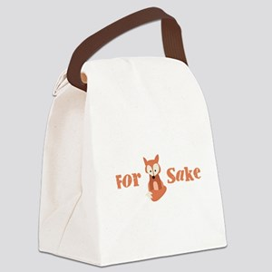 For Fox Sake Canvas Lunch Bag
