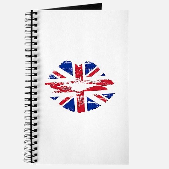 UK Flag Union Jack Lips Journal