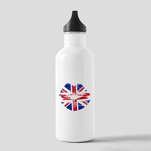 UK Flag Union Jack Lips Water Bottle