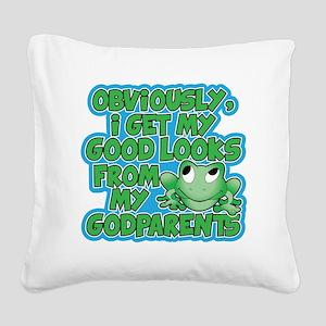 Godparents Square Canvas Pillow