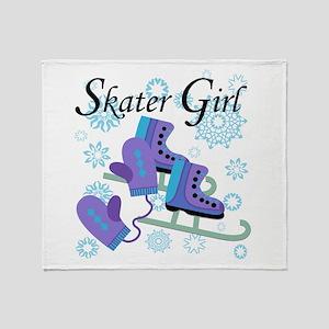 Skater Girl Throw Blanket
