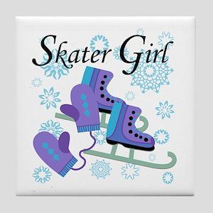 Skater Girl Tile Coaster