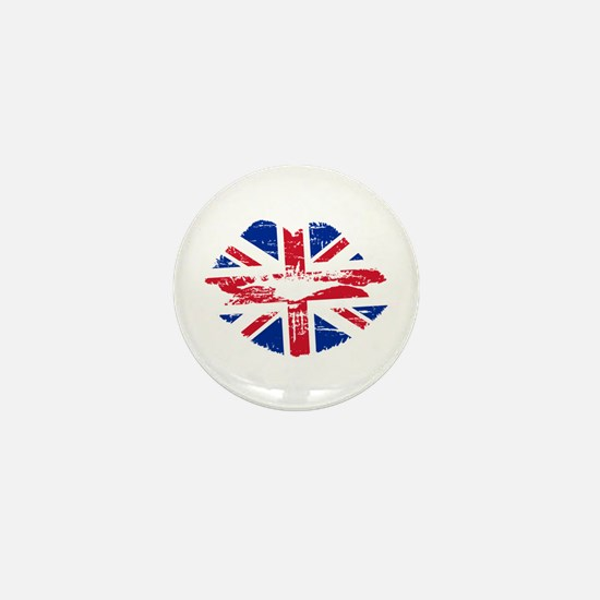 UK Flag Union Jack Lips Mini Button