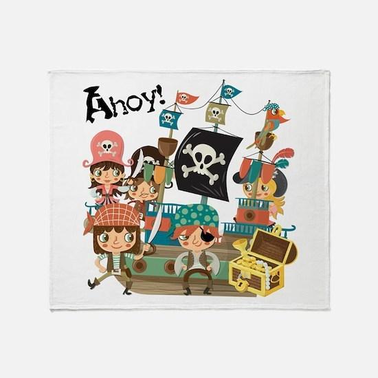 Pirates Ahoy Throw Blanket