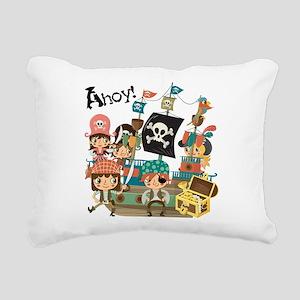 Pirates Ahoy Rectangular Canvas Pillow
