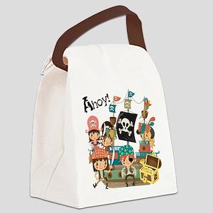 Pirates Ahoy Canvas Lunch Bag