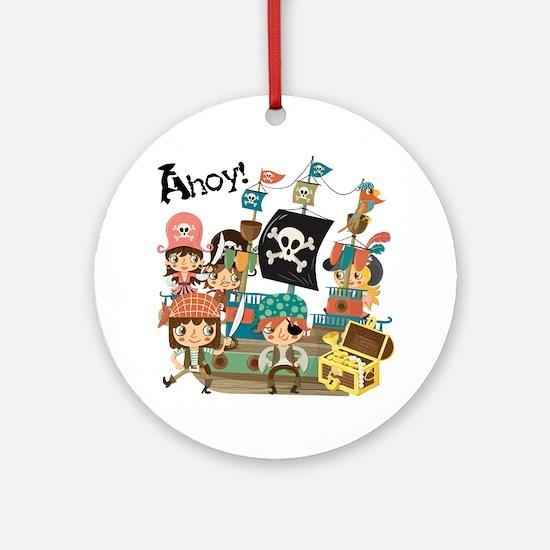 Pirates Ahoy Ornament (Round)