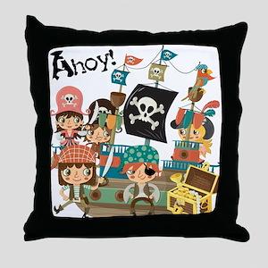 Pirates Ahoy Throw Pillow