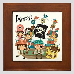 Pirates Ahoy Framed Tile