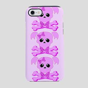 Pink Skull Girl Beach Towel iPhone 7 Tough Case