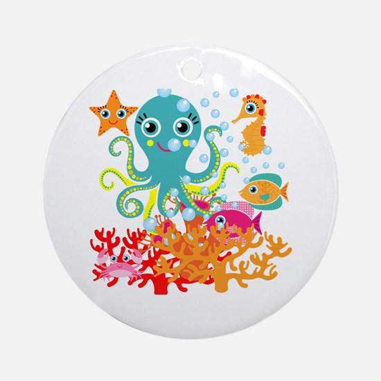 Welcome to the Ocean Ornament (Round)